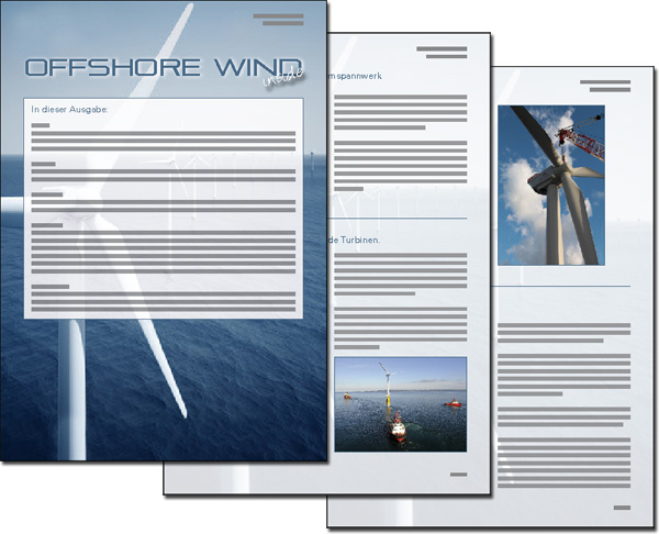 Newsletter OFFSHORE WIND inside